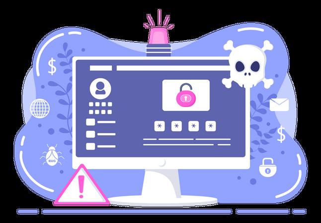 Cyber Stalking Illustration