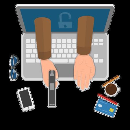 Cybercrime Illustration