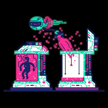Cyborg Illustration