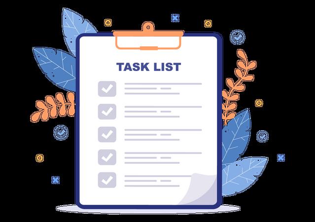 Daily Task List Illustration