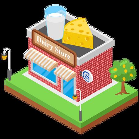 Dairy Store Illustration