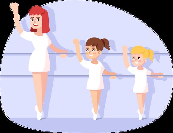 Dance classes for children Illustration