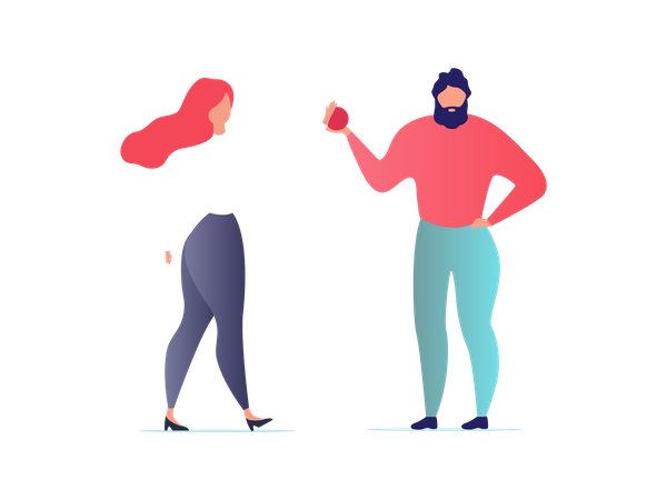 Dancing an Having Fun Married Couple or Diverse Friends Illustration