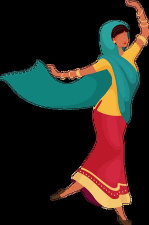 Dancing indian female Illustration