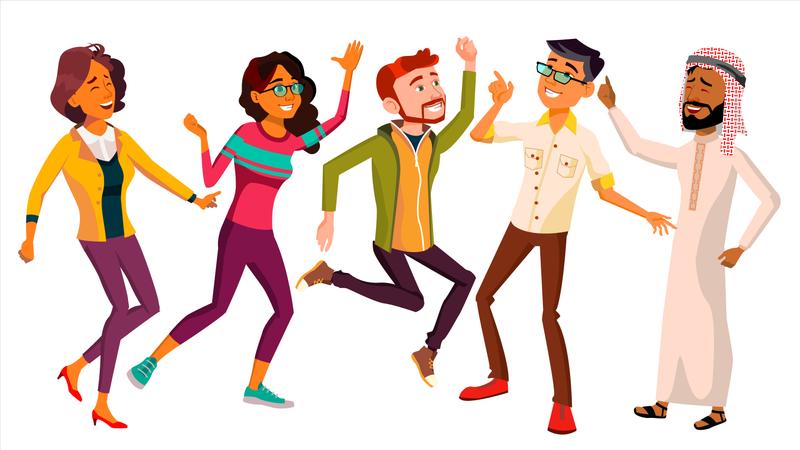 Dancing People Illustration