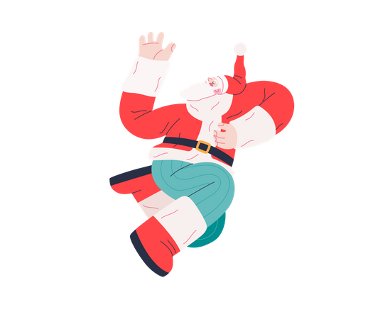 Dancing Santa Claus Illustration