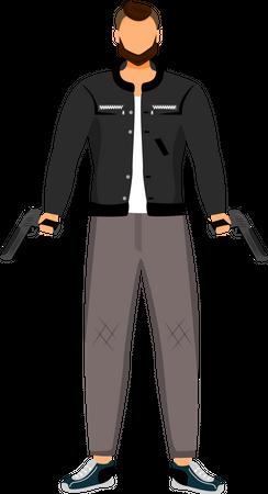Dangerous outlaw Illustration