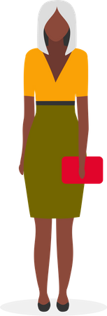 Dark skinned business lady Illustration