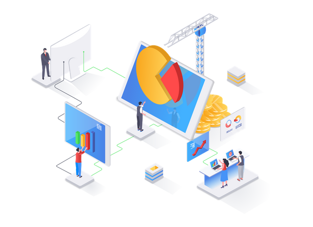 Data analysis and strategy planning Illustration