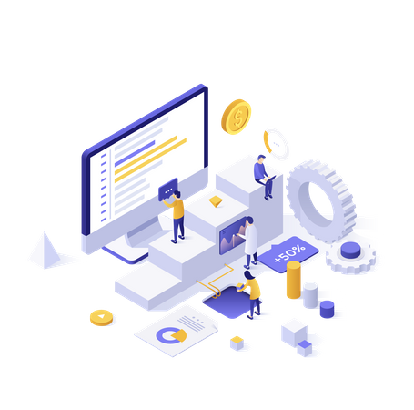 Data analysis Process Illustration