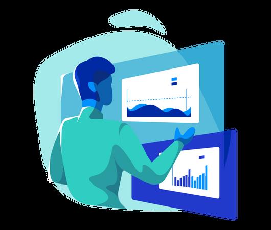 Data analyst Illustration