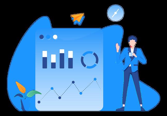 Data And Analytical Presentation Illustration