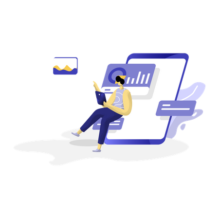 Data and dashboard Management Illustration