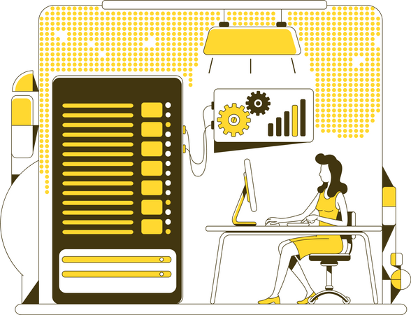 Data backup Illustration