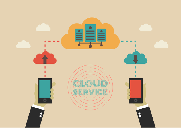 Data Can Transfer To Cloud Server Illustration
