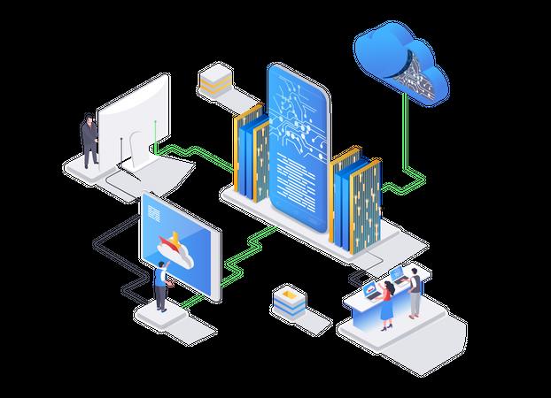 Data center technology Illustration
