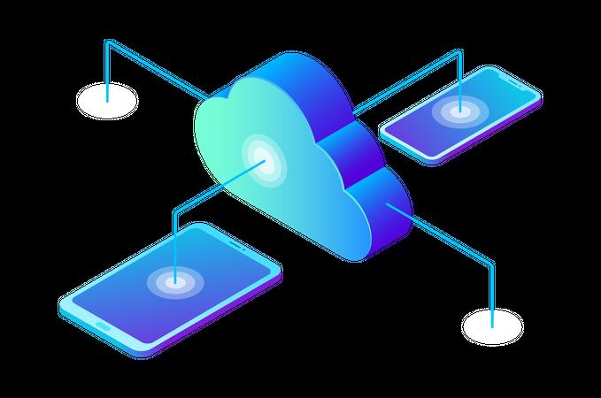 Data Cloud Storage Illustration