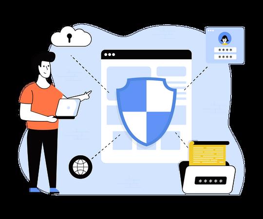 Data encryption Illustration