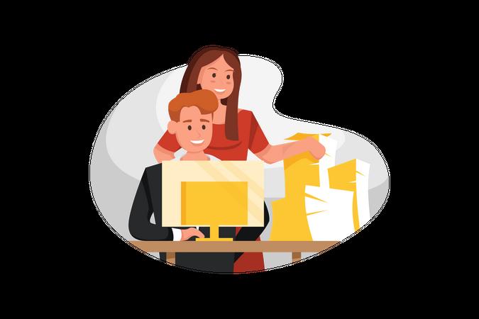 Data entry task Illustration