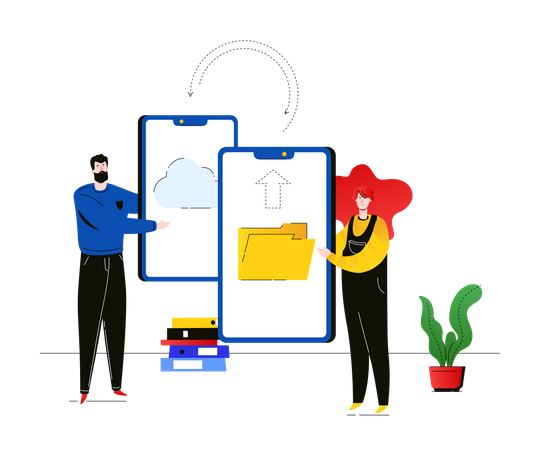Data exchange Illustration