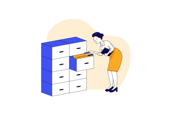 Data file and folder storage Illustration
