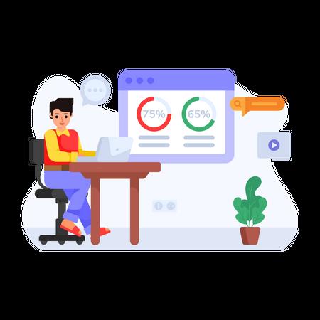 Data Marketing Illustration