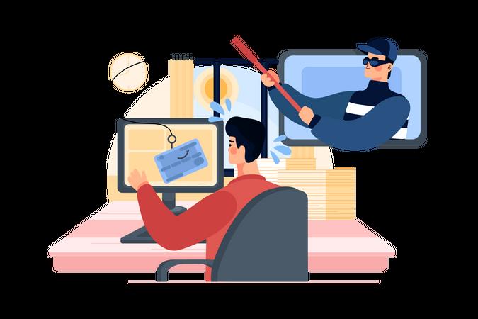 Data phishing Illustration