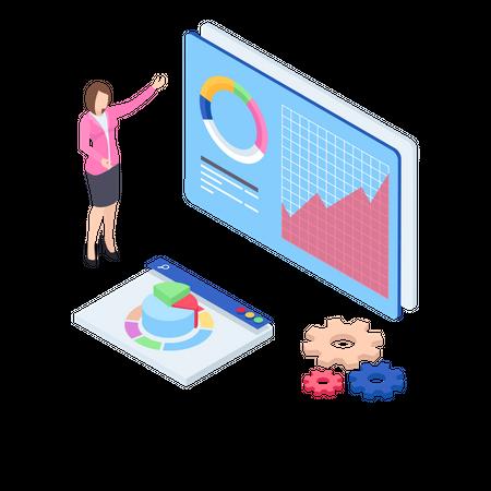 Data presentation Illustration