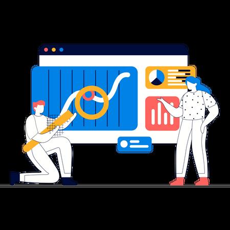 Data processing analysis Illustration
