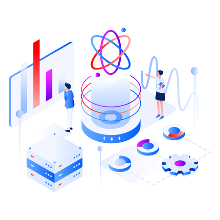 Data Science Isometric Illustration