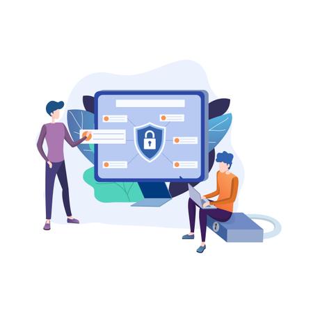 Data security Illustration
