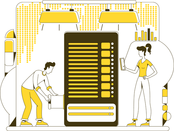 Data storage Illustration
