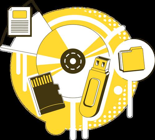 Data storage devices Illustration