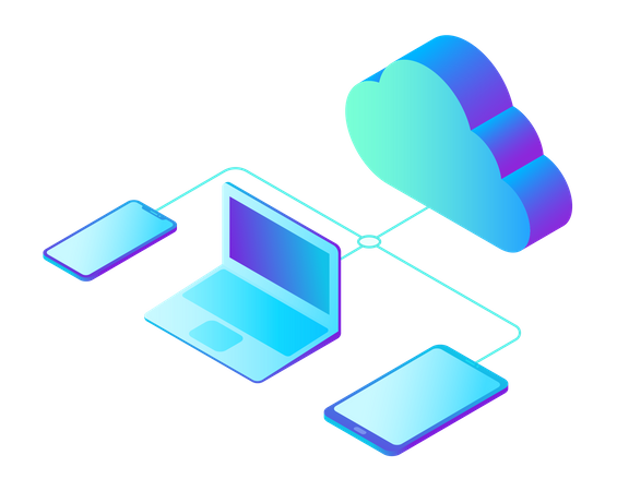 Data storage network Illustration