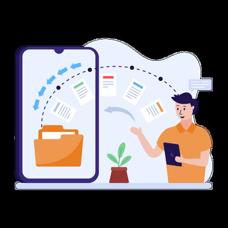 Data transfer Illustration