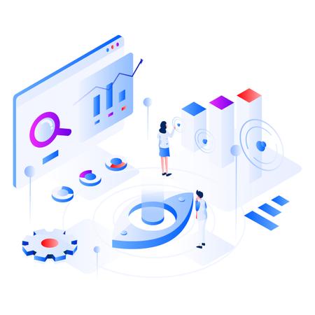 Data Virtualization Isometric Illustration