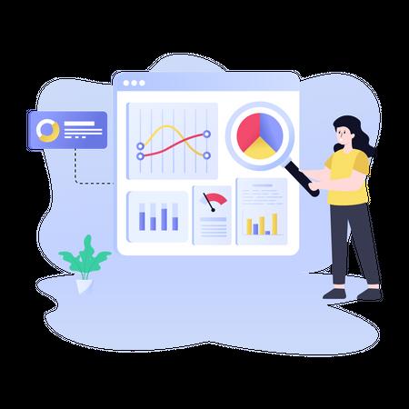 Data visualization Illustration
