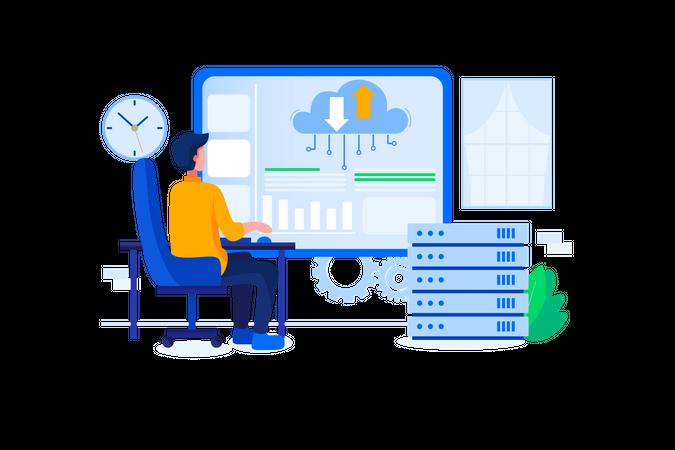 Database developer Illustration