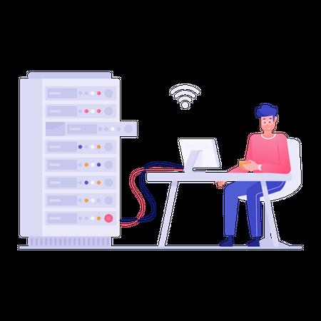 Database manager Illustration