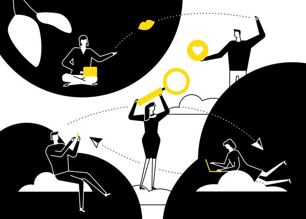 Dating app Illustration