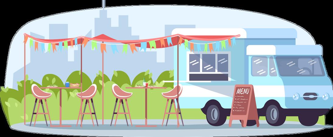 Daytime food event Illustration