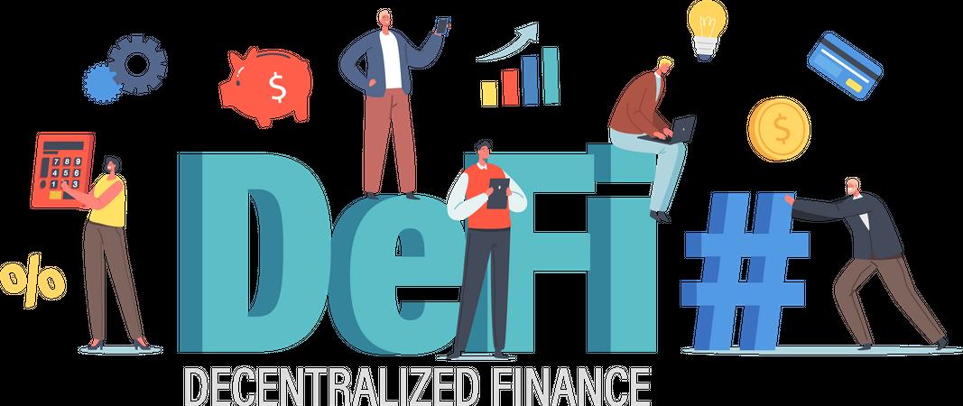 Decentralized Finance Illustration