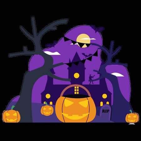 Decoration for Halloween Illustration