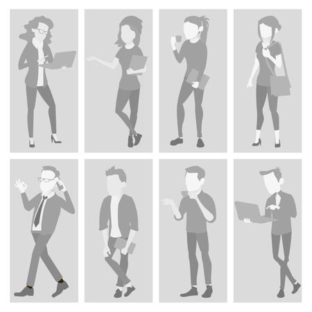 Default Placeholder Avatar Set Vector Illustration