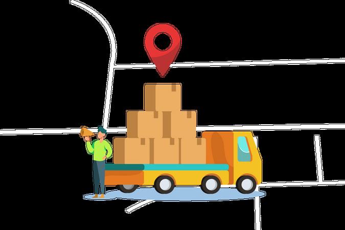Delivery address Illustration