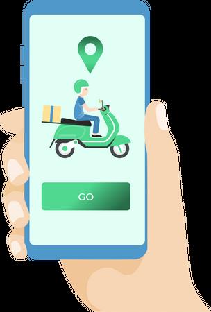 Delivery App Illustration