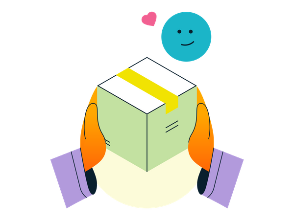 Delivery Box Illustration