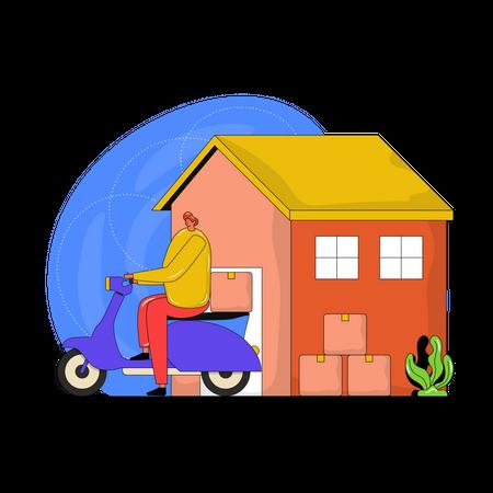 Delivery Boy Illustration