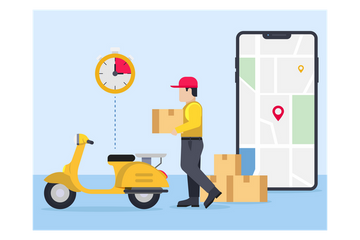 Shipping Service Illustration Pack