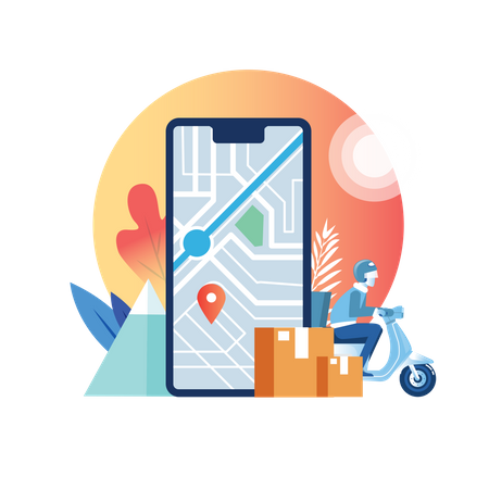 Delivery location Illustration